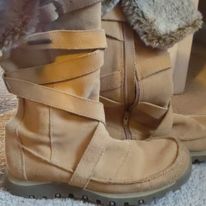 Leather Upper Balance/Fur Boots